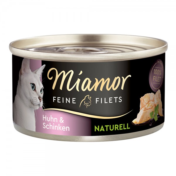Miamor Feine Filets naturelle in Fleischsaft Huhn & Schinken