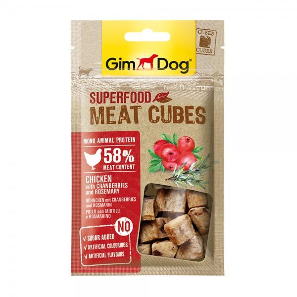GimDog Meat Cubes Huhn Cranberry Rosmarin