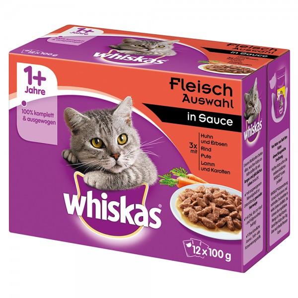 Whiskas Multipackung 1+ Klassische Auswahl in Sauce