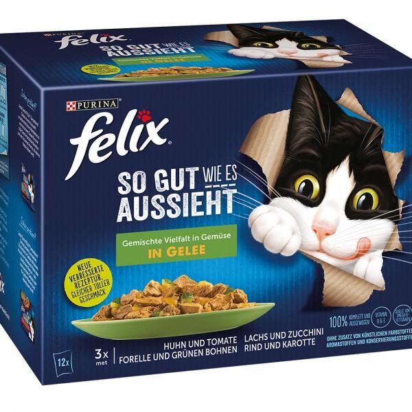 Felix So gut wie es aussieht, Gemischte Vielfalt mit Gemüse - Multipack