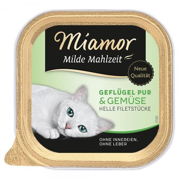 Miamor Milde Mahlzeit Geflügel & Gemüse