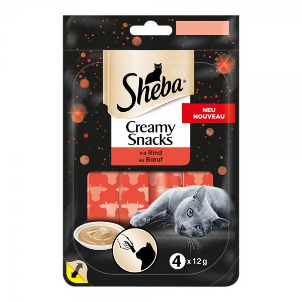 Sheba Creamy Snack mit Rind