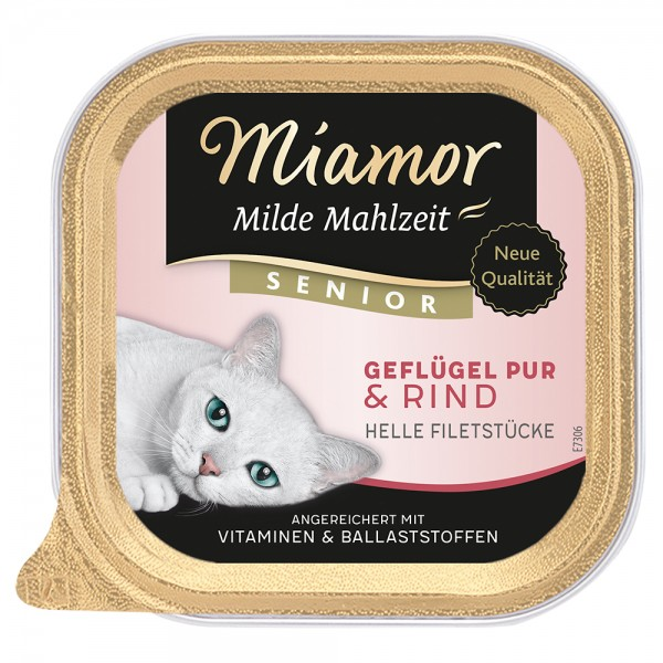 Miamor Milde Mahlzeit Senior Geflügel & Rind