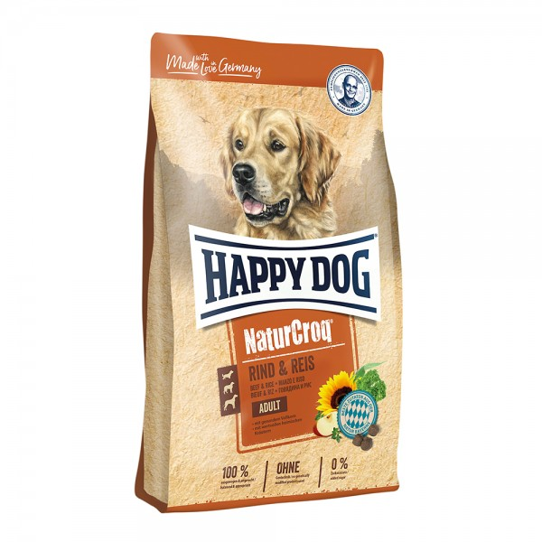 Happy Dog Natur-Croq Rind & Reis