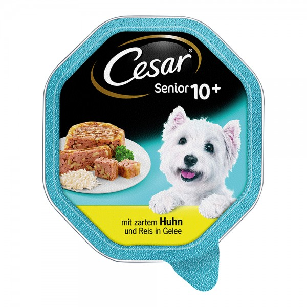 Cesar Senior 10+ Huhn & Reis in Gelee