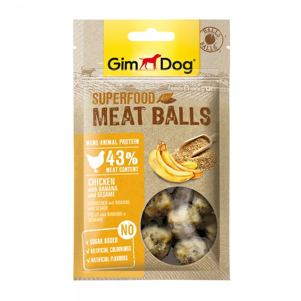 GimDog Meat Balls Huhn Banane und Sesam