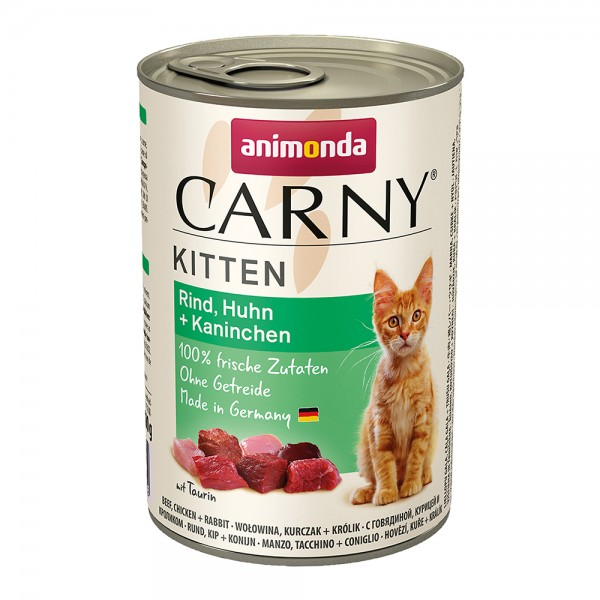 Animonda Carny Kitten Rind, Huhn + Kaninchen