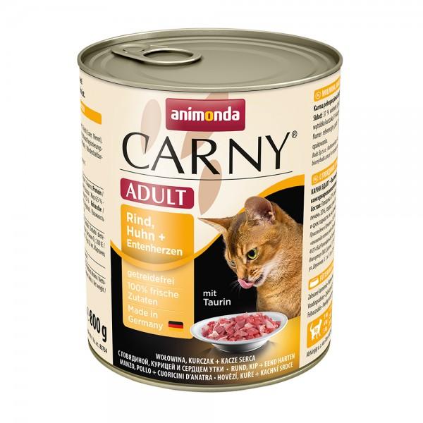 Animonda Carny Adult Rind, Huhn + Entenherzen