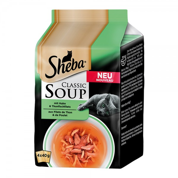Sheba Classic Soup MP mit Huhn & Thunfischfilets