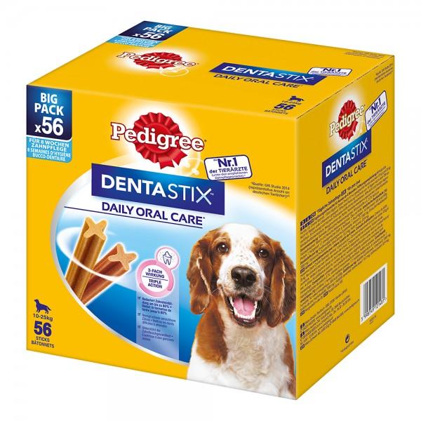 Pedigree Dentastix Tägliche Zahnpflege Big Pack für mittelgroße Hunde 56 Stück