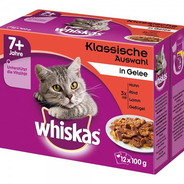 Whiskas Multipackung 7+ Klassische Auswahl in Gelee