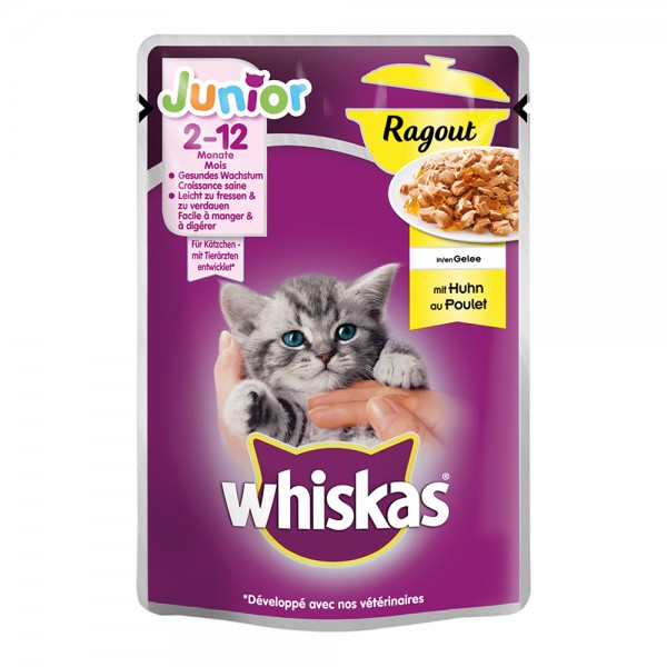 Whiskas Junior Ragout mit Huhn