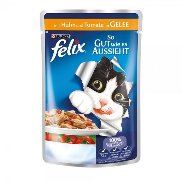 Felix So gut wie es aussieht mit Huhn & Tomate in Gelee