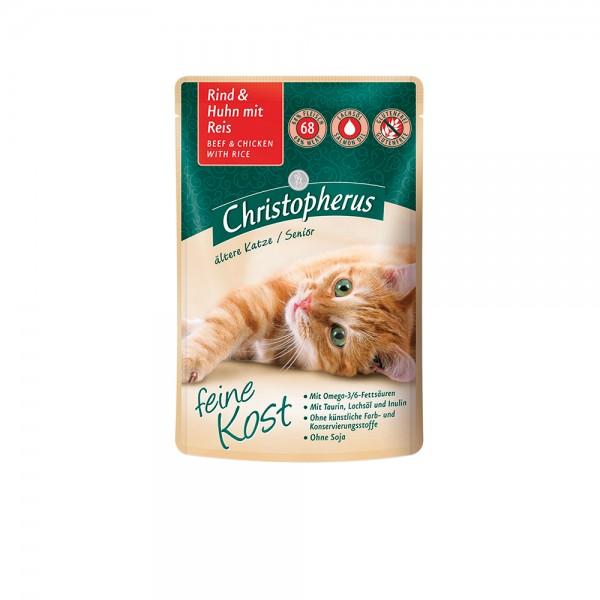 Allco Christopherus Katze Senior - Rind und Huhn mit Reis