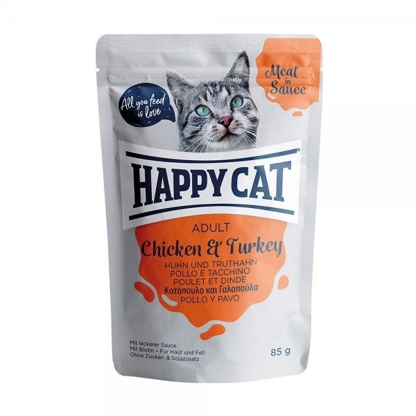 Happy Cat Pouch Adult Huhn & Truthahn