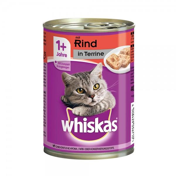 Whiskas 1+ mit Rind in Terrine 400g