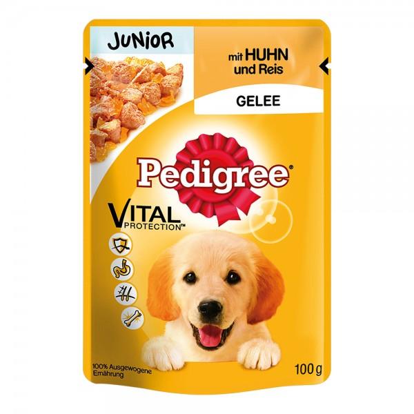 Pedigree Portionsbeutel Junior Huhn+Reis in Gelee