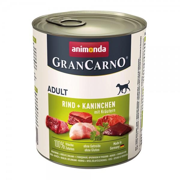 Animonda Gran Carno Original Adult Rind+Kaninchen mit Kräutern