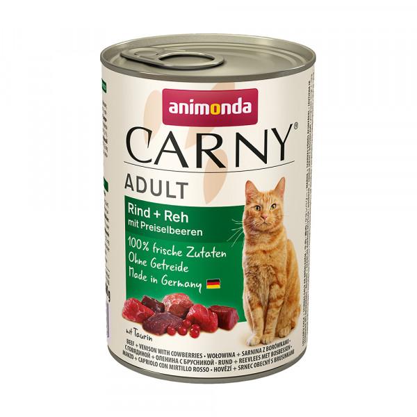 Animonda Carny Adult Rind + Reh mit Preiselbeeren