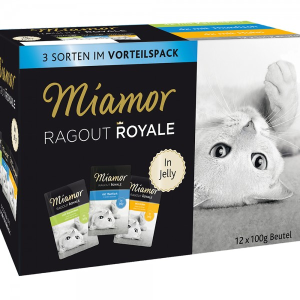 Miamor Ragout Royale in jelly Huhn, Thunfisch, Kaninchen Multibox