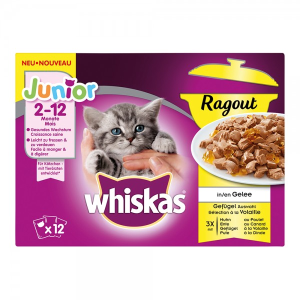 Whiskas MP Junior Ragout Geflügelauswahl