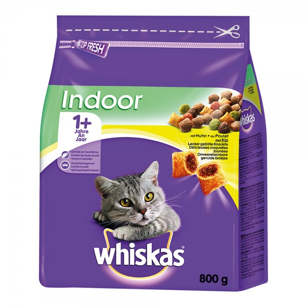 Whiskas 1+ Indoor mit Huhn