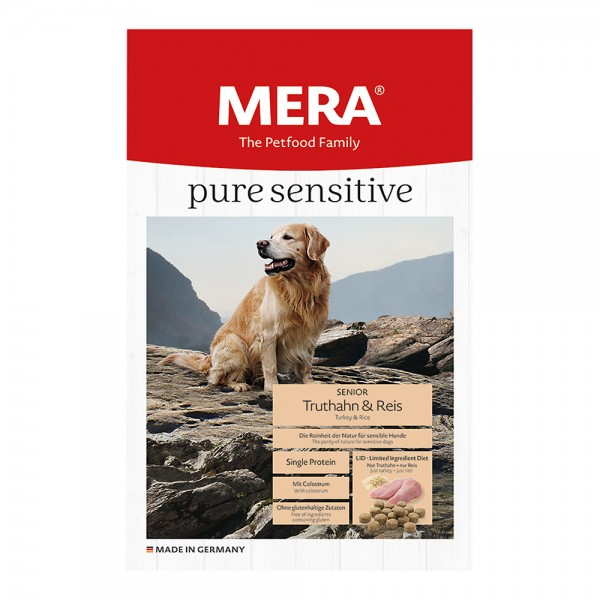 Mera Pure Sensitiv Senior Truthahn & Reis Glutenfrei