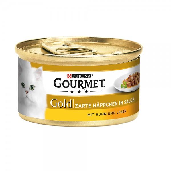 Gourmet Gold Zarte Häppchen in Sauce mit Huhn&Leber