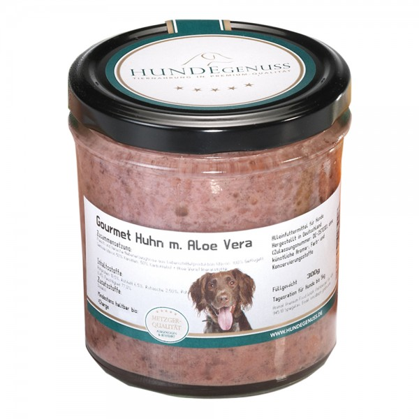 Hundegenuss Hundegenus Gourmet Huhn & Aloe Vera