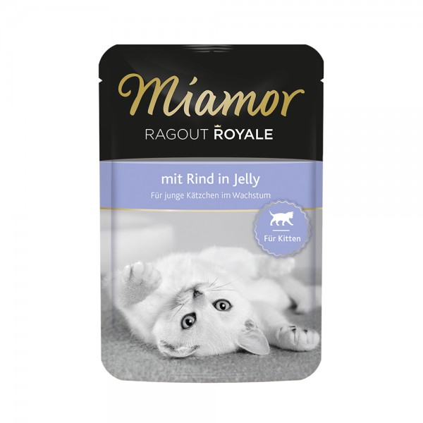 Miamor Ragout Royale in Jelly Kitten - mit Rind