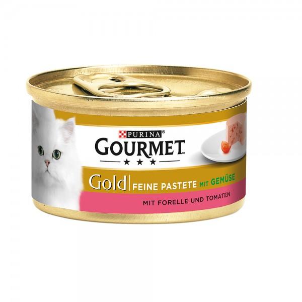Gourmet Gold Feine Pastete mit Forelle & Tomaten