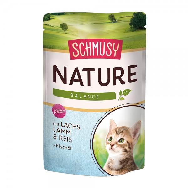 Schmusy Nature in Sauce Kitten - Lachs & Lamm
