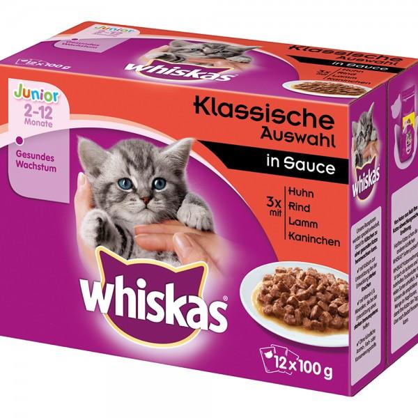 Whiskas Mulitpackung Junior Klassische Auswahl in Sauce