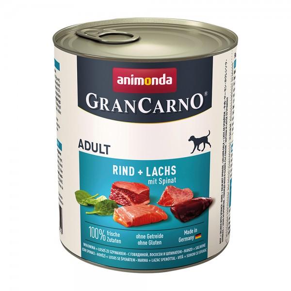 Animonda Gran Carno Original Adult mit Rind+Lachs mit Spinat