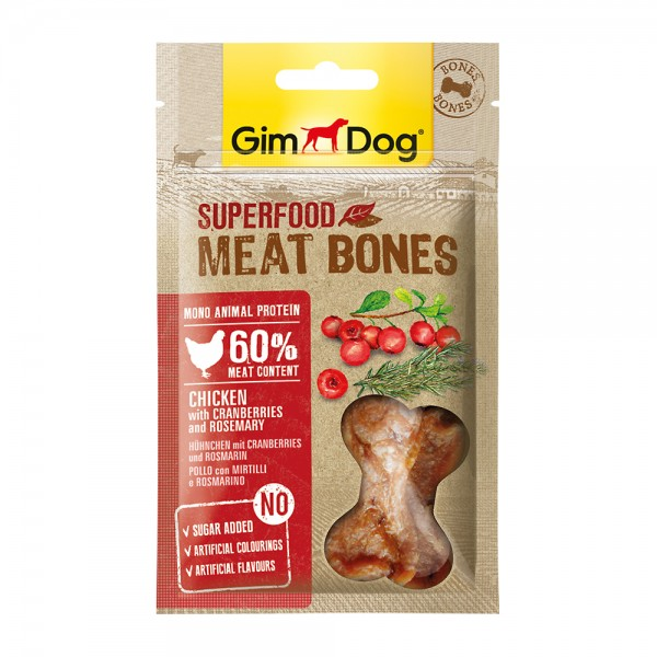 GimDog Meat Bones Huhn Cranberry Rosmarin
