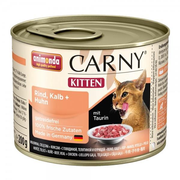 Animonda Carny Kitten Rind, Kalb + Huhn