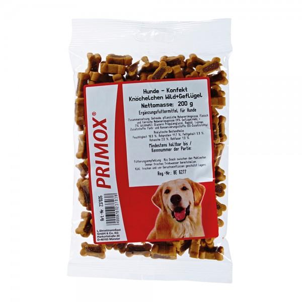Primox Hundekonfekt Knöchelchen Wild/Geflügel