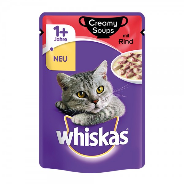 Whiskas 1+ Creamy Soups mit Rind