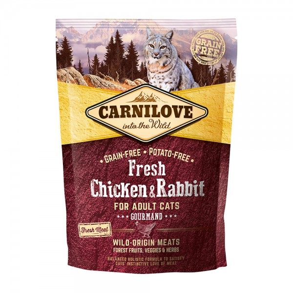 Carnilove Cat Adult Fresh-Chicken & Rabbit