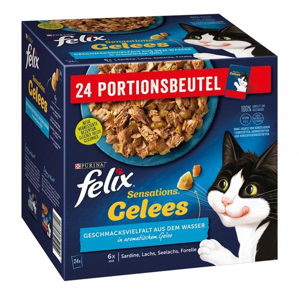 Felix Sensation Gelee, Geschmacksvielfalt aus dem Wasser - Multipack