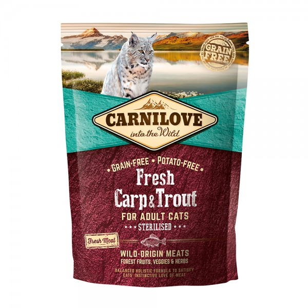Carnilove Cat Adult Fresh-Carp & Trout