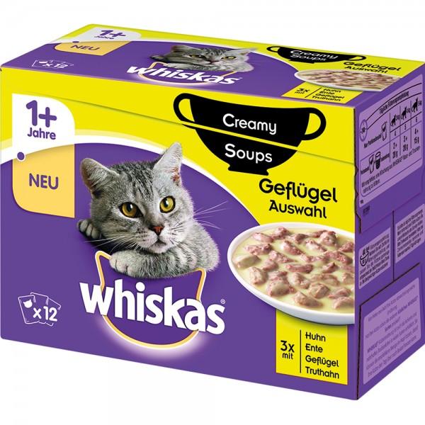 Whiskas MP 1+ Creamy Soups Geflügelauswahl