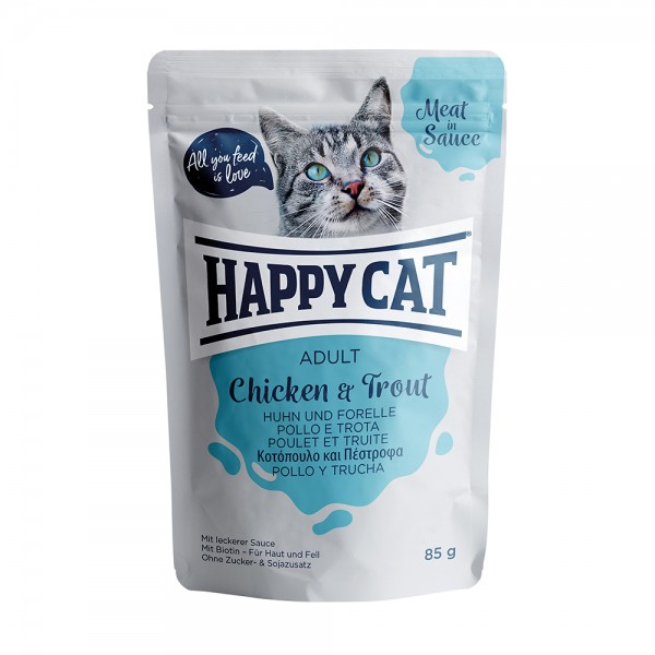 Happy Cat Pouch Adult Huhn & Forelle