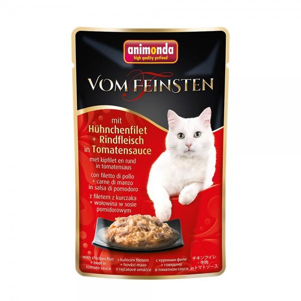 Animonda Vom Feinsten mit Hühnchenfilet + Rindfleisch in Tomatensauce