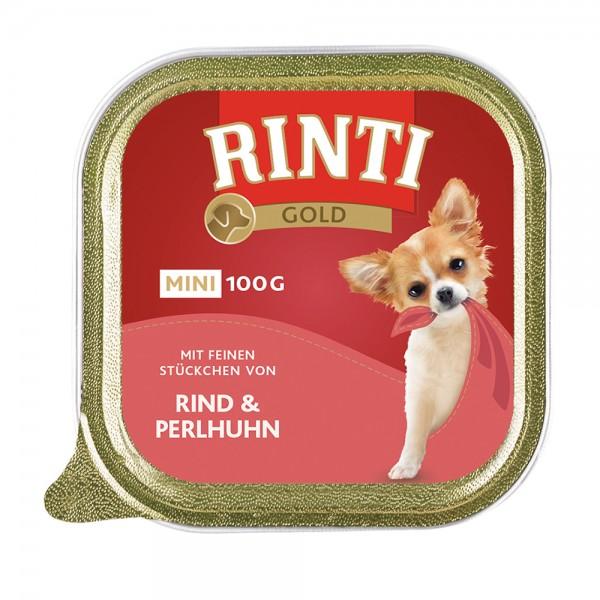 Rinti Gold mini Rind und Perlhuhn