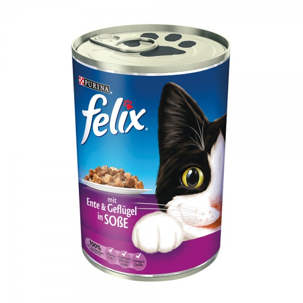 Felix Leckerbissen in Soße mit Ente und Geflügel