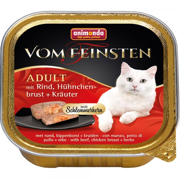Animonda Vom Feinsten mit Rind, Hühnchenbrust + Kräutern