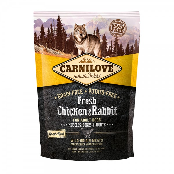 Carnilove Dog Adult Fresh-Chicken & Rabbit