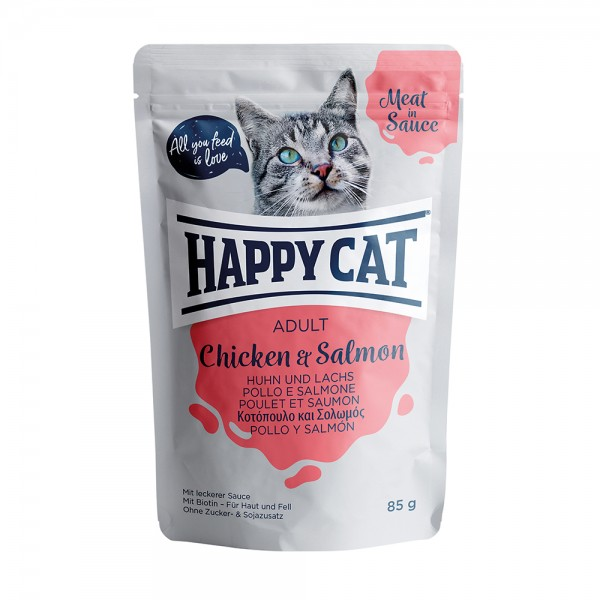 Happy Cat Pouch Adult Huhn & Lachs
