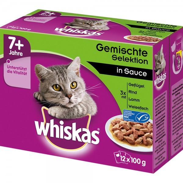 Whiskas Multipackng 7+ Gemischte Auswahl in Sauce